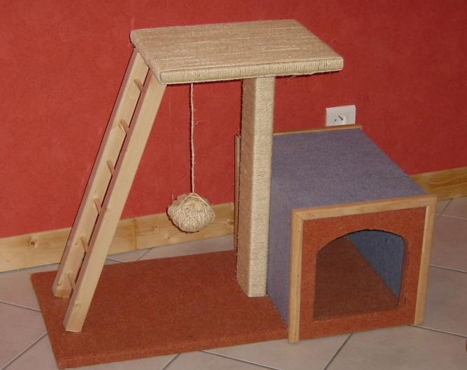 fabriquer un arbre chats. Black Bedroom Furniture Sets. Home Design Ideas